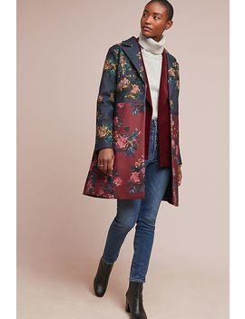 Colorblocked Floral Coat by Eva Franco