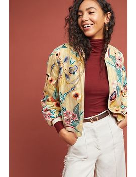 Embroidered Bomber Jacket by Vineet Bahl