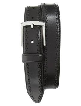 Perforated Leather Belt by Johnston & Murphy