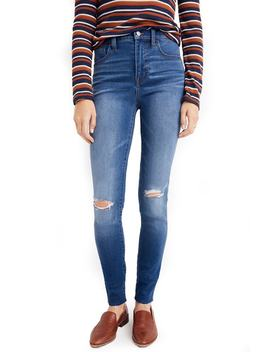 Roadtripper Ripped High Waist Ankle Skinny Jeans by Madewell