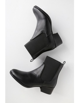 Etienne Black Chelsea Sock Booties by Lulu's