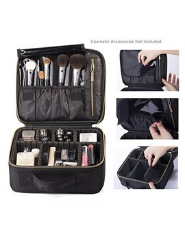 20 Rownyeon Portable Makeup Bag Eva Professional Makeup Artist Bag Makeup Train Case Makeup Organizer Bag (Small 2) by Rownyeon