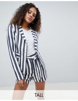 Glamorous Tall Relaxed Blazer In Bold Stripe Two Piece by Glamorous Tall