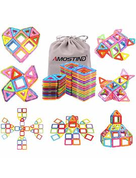 Idoot Magnetic Blocks Building Set For Kids, Magnetic Tiles Educational Building Construction Toys For Boys And Girls With Storage Bag   56pcs by Idoot