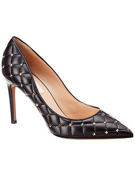 Valentino Rockstud Leather Pump by Valentino