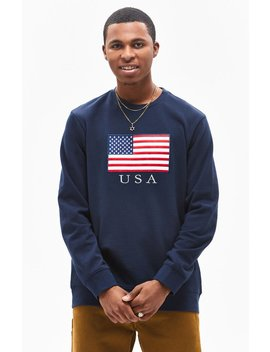 Pac Sun Nation Oversized Crew Neck Sweatshirt by Pacsun