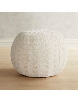 Paxton Fuzzy Charcoal Ottoman by Pier1 Imports