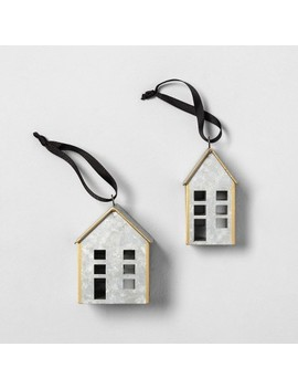 Metal House Ornaments Set Of 2   Hearth & Hand™ With Magnolia by Shop Collections