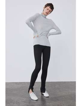 Basic Mock Neck Top  Long Sleeve T Shirts Woman by Zara