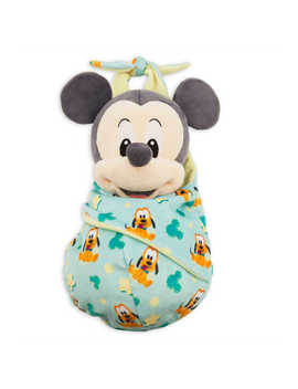 Mickey Mouse Plush In Pouch   Disney Babies   Small by Disney