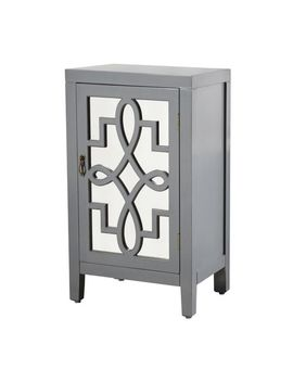 Gray Mirrored Panel Nightstand by Pier1 Imports