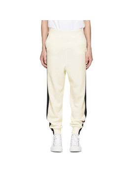 Off White Wool Stripe Sweatpants by Stella Mccartney