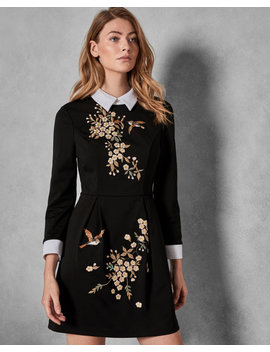 Graceful Collared Dress by Ted Baker