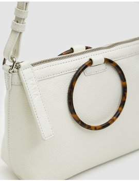 Ring Crossbody Bag In White by Kara