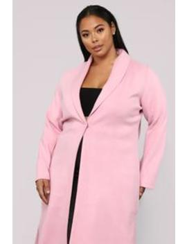 Mystery Lover Coat   Rose by Fashion Nova
