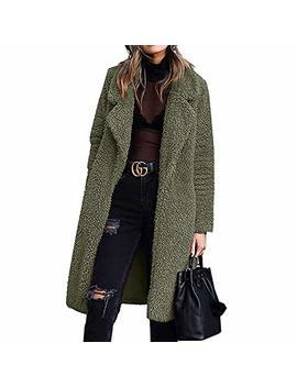 Bibowa Fuzzy Jacket Women Faux Shearling Soft Lightweight Warm Winter Coats Trendy by B Ibowa
