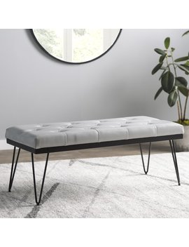 Mercury Row Varner Faux Leather Bench & Reviews .Ca by Mercury Row