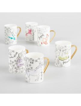 Spirit Animal Mugs Set Of 6 by World Market