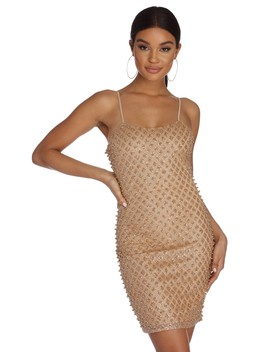 Glow Getter Glitter Pearl Dress by Windsor