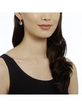 Galet Pierced Earrings, Gray, Rose Gold Plating by Swarovski