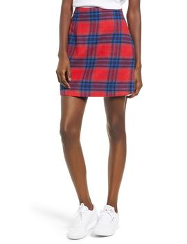 Plaid Melton Skirt by Bp.