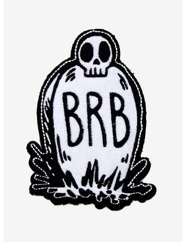 Loungefly Brb Gravestone Plush Patch by Hot Topic