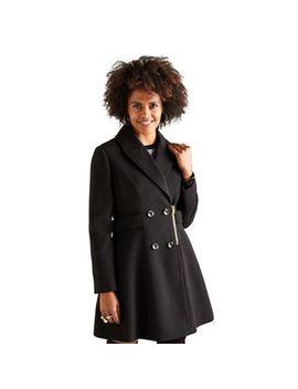 Yumi   Black Military Pea Coat by Yumi