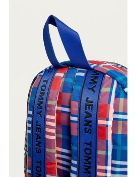 Tommy Jeans Logo Tape Check Mini Backpack by Tommy Jeans