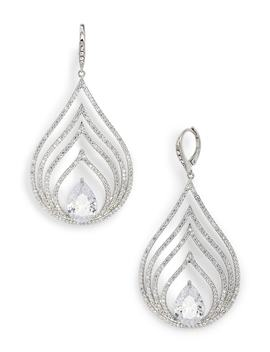 Pavé Openwork Chandelier Earrings by Jenny Packham