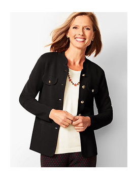 Stand Collar Sweater Jacket by Talbots