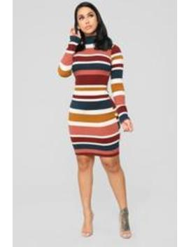 A Walk In Central Park Sweater Dress   Multi by Fashion Nova