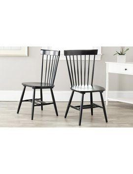 Safavieh Country Classic Dining Country Lifestyle Spindle Back Black Dining Chairs (Set Of 2) by Safavieh