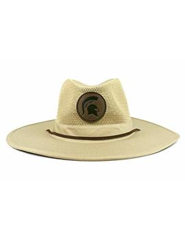 Cowbucker Ncaa Unisex Ncaa Crushable Safari Hat, Mesh Wide Brim Sun Hat | Officially Licensed by Cowbucker