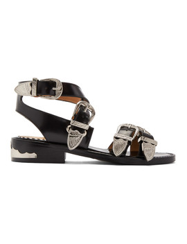 Black Western Sandals by Toga Pulla