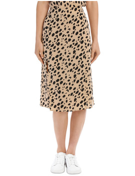 Leopard Print Side Spilt Skirt   Sand Base Leopard by Milk & Honey