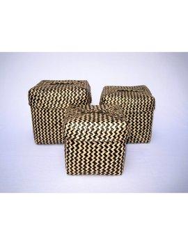 Mistana Square Black Basket by Mistana