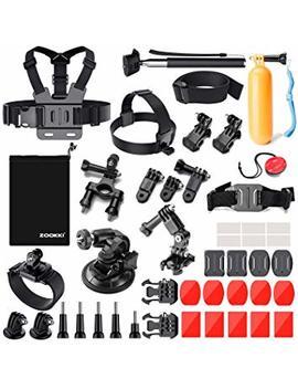 Zookki 39 In 1 Accessories Kit For Go Pro Hero 5 4 3+ 3 2 1 Black Silver, Sj4000 Sj5000 Sj6000, Camera Accessory Kit For Xiaomi Yi/Dbpower/Wi Mi Us/Sjcam by Amazon