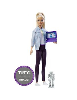 Barbie Career Robotics Engineer Doll, Blonde, With Laptop & Robot by Barbie