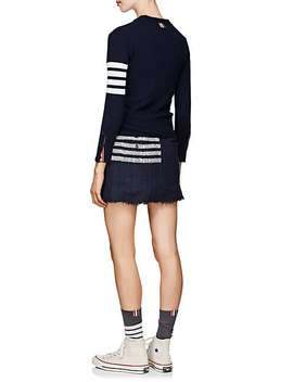 Block Striped Cashmere Cardigan by Thom Browne
