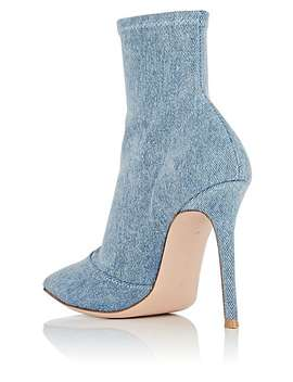 Denim Ankle Boots by Gianvito Rossi