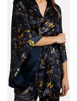 Margaret Floral Silk Kimono by Raven & Sparrow By Stephanie Seymour