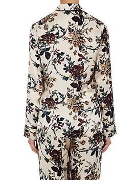 Pamela Silk Pajama Top by Raven & Sparrow By Stephanie Seymour