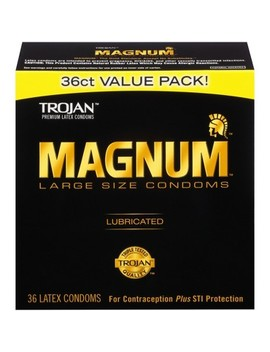 Trojan Magnum Large Size Lubricant Condoms by Trojan