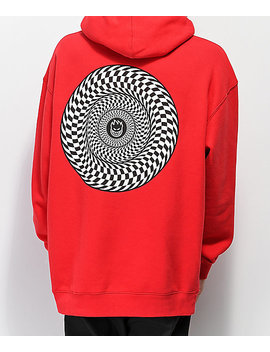 Spitfire Swirl Red Hoodie by Spitfire