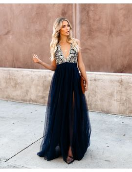 Crystal Winter Maxi Dress by Vici