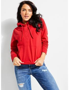 Guess Originals Color Block Crop Hoodie by Guess