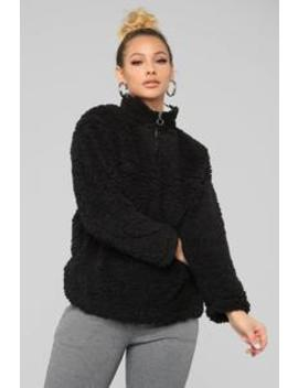 Karmen Fuzzy Jacket   Black by Fashion Nova