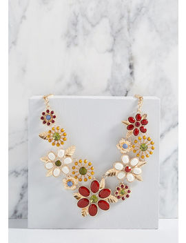 Abundant Blossoms Statement Necklace by Modcloth