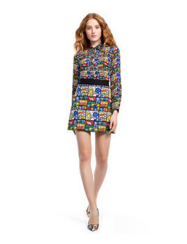 Keith Haring X Ao Riley Skirt by Alice And Olivia