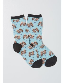 All Paired Away Otter Socks by Modcloth